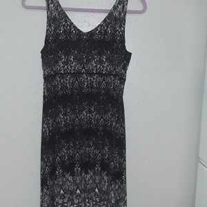 Small Athleta Soft Black Print Tank Dress